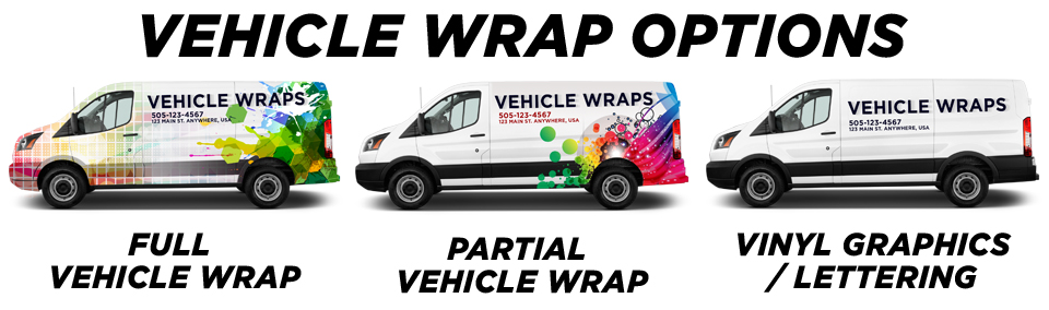 Kirkland Vehicle Wraps vehicle wrap options